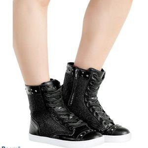 Pastry Military Glitz Women's Sz 8 Sneaker Boots